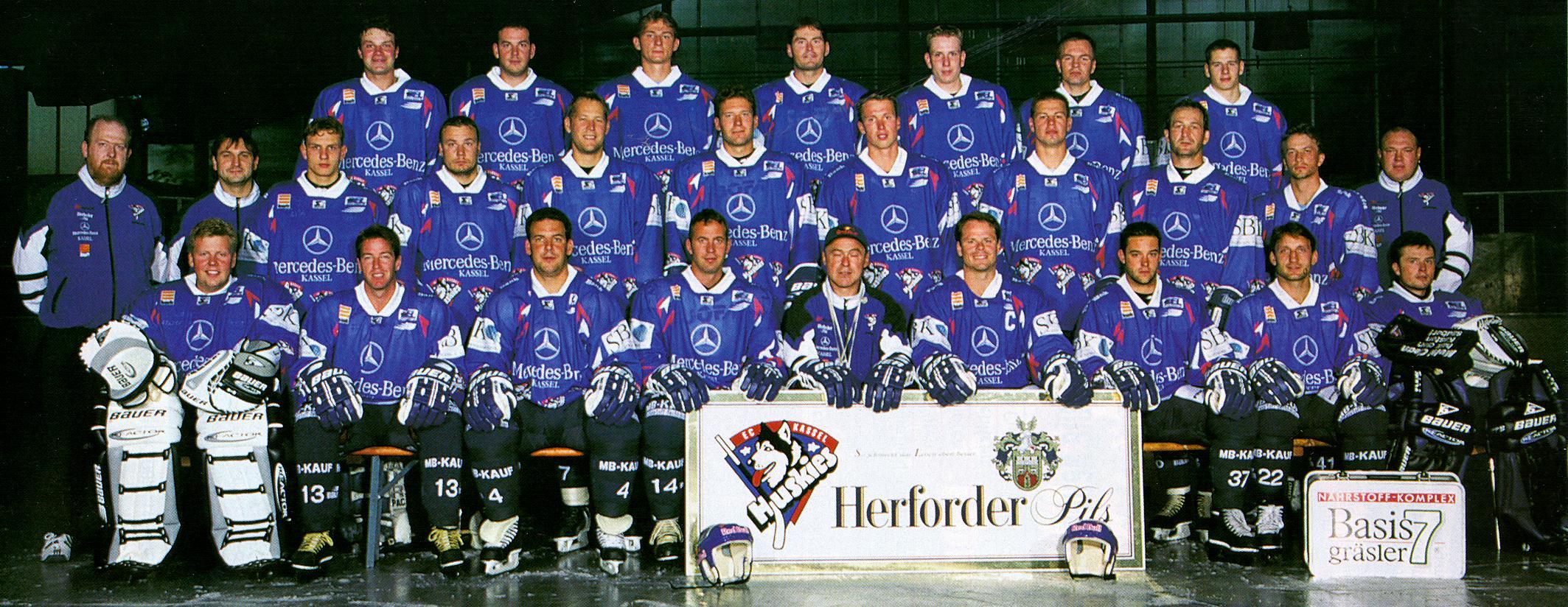 German Hockey Kassel Huskies 97 98